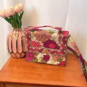 VERA Bradley Twist Lock Crossbody Handbag